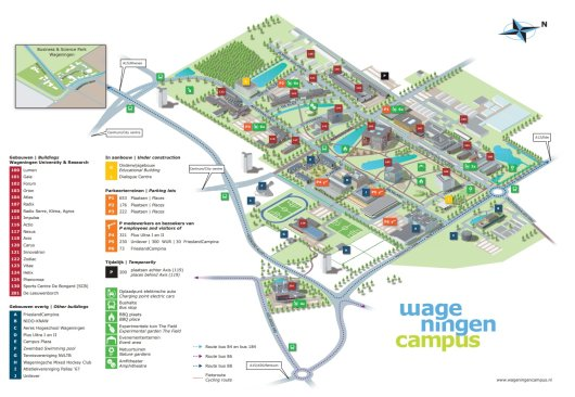 Campus map WUR