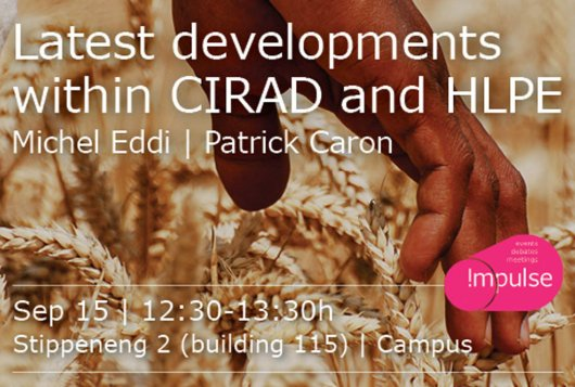 Lunch lecture: latest developments within CIRAD and HLPE